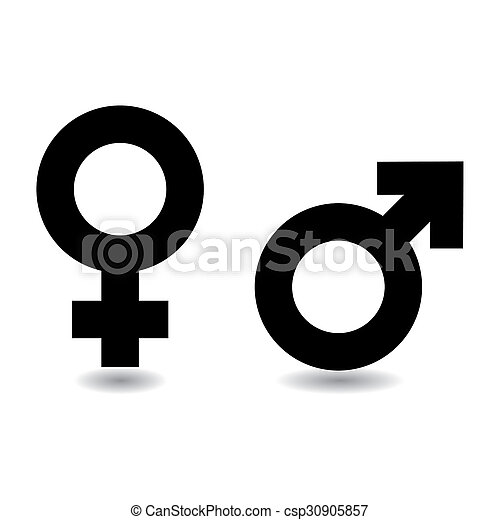 Male Female Symbol Black And White Female Male Symbols With Drop