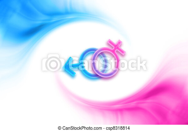 Male Female Symbols Abstract Sex Background With Male Female Symbols