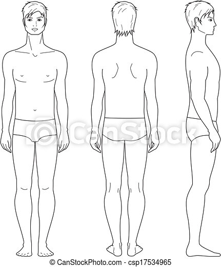 Male figure - csp17534965