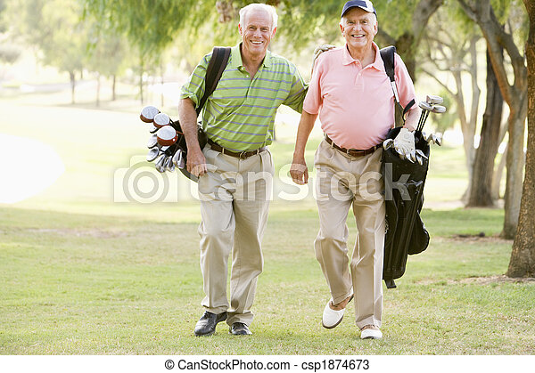 Male Friends Enjoying A Game Of Golf - csp1874673