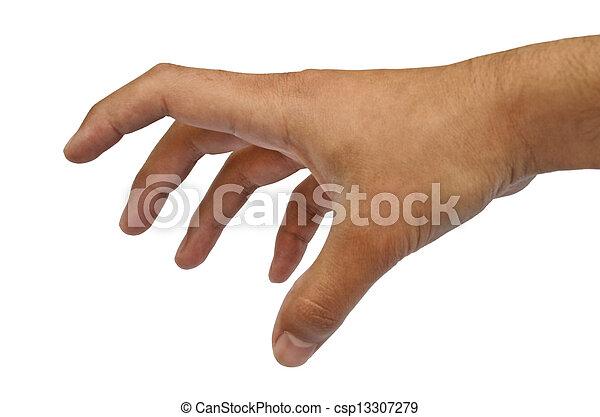 male hand grabbing pose