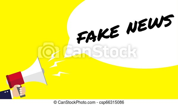male hand holding megaphone with fake news speech bubble loudspeaker eps10 vector illustration male hand holding megaphone can stock photo