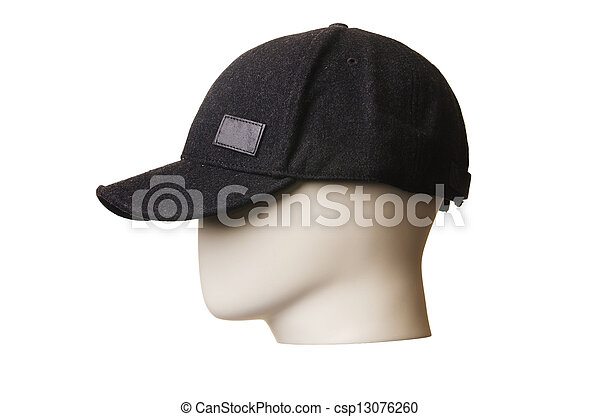 Male hat isolated on white - csp13076260