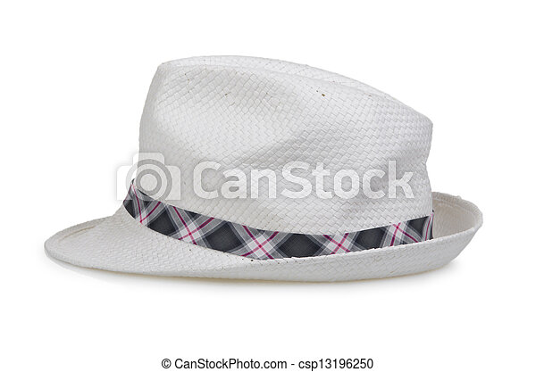 Male hat isolated on white - csp13196250