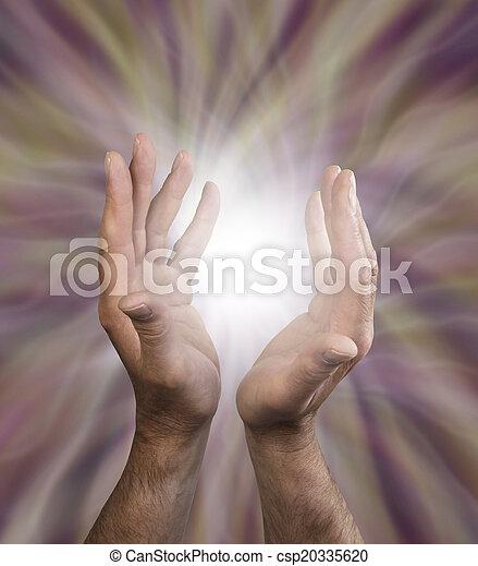 Male healing energy - csp20335620