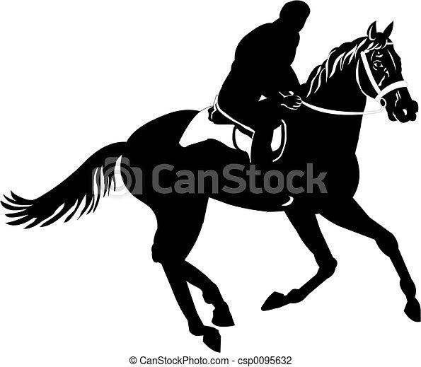 Male horse rider - csp0095632