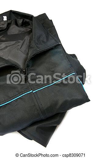 Male jacket isolated on white - csp8309071