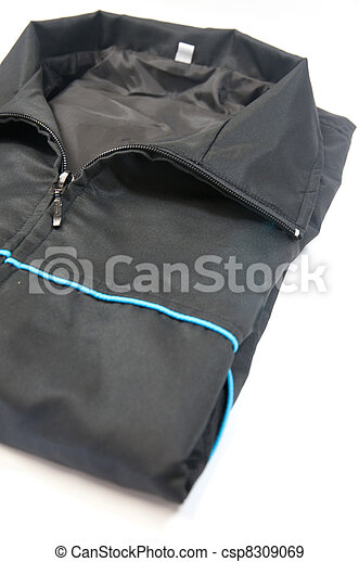 Male jacket isolated on white - csp8309069