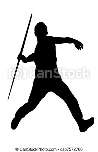 isolated image of a male javelin thrower rh canstockphoto com javelin throw clip art javelin clipart