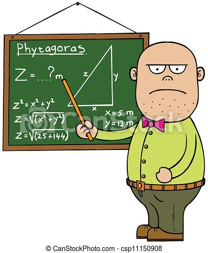 male mathematics teacher teacher board are in different vector rh canstockphoto com teaching math clipart teacher teaching math clipart