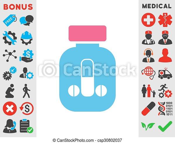 Male Medicine Icon - csp30802037