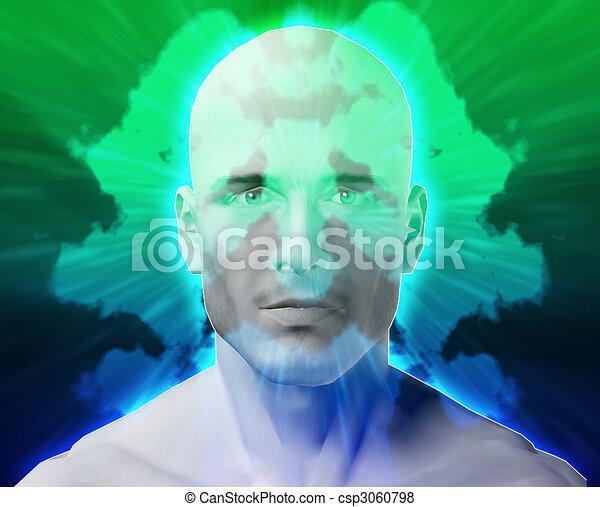 Male mental health inkblot - csp3060798