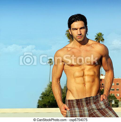 Male model in summer - csp6754075
