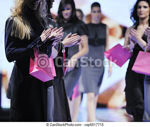male model on fashion show - csp5017715