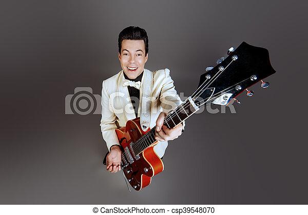 male musician - csp39548070