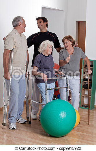 Male Physical Therapist with Patient - csp9915922