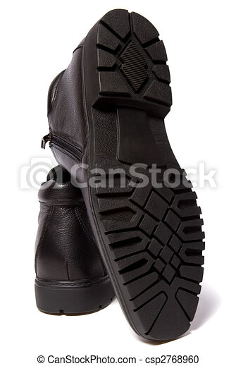 Male Shoes Isolated In White Background