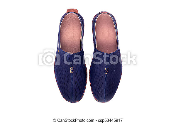 male shoes isolated on white - csp53445917