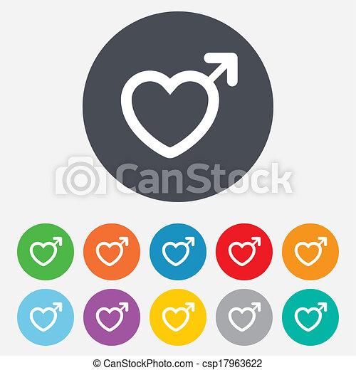 Male sign icon. Male sex button. - csp17963622