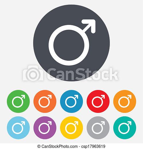 Male sign icon. Male sex button. - csp17963619