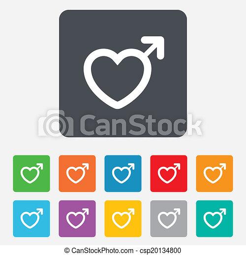 Male sign icon. Male sex button. - csp20134800