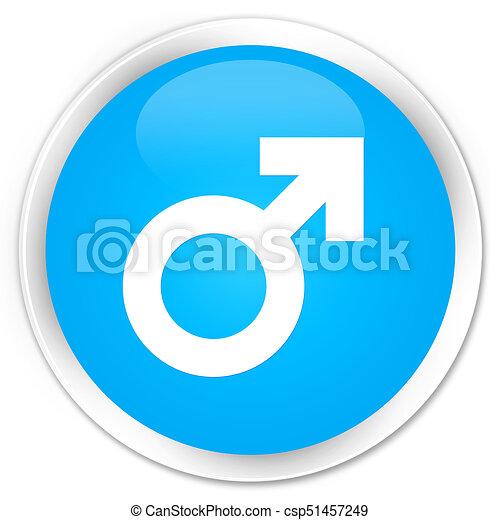 Male sign icon premium cyan blue round button - csp51457249