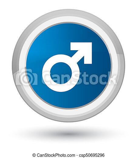 Male sign icon prime blue round button - csp50695296