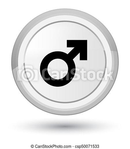 Male sign icon prime white round button - csp50071533