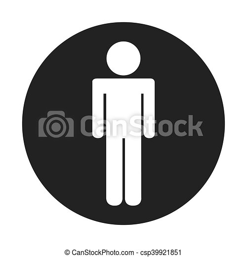 male symbol isolated icon - csp39921851