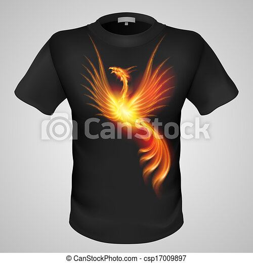 Male t-shirt with print.  - csp17009897