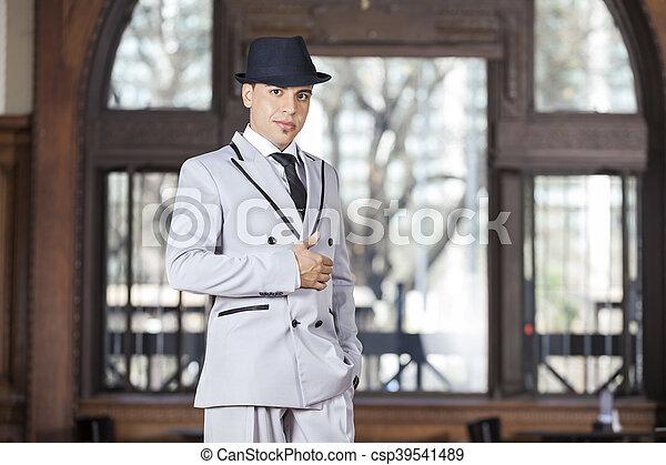 Male Tango Dancer Performing At Restaurant - csp39541489