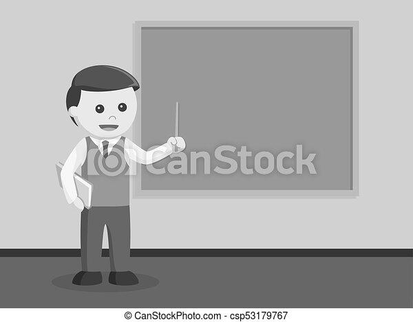 Male teacher teaching - csp53179767