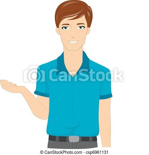 illustration of a male teacher explaining rh canstockphoto com male female clip art clipart male image