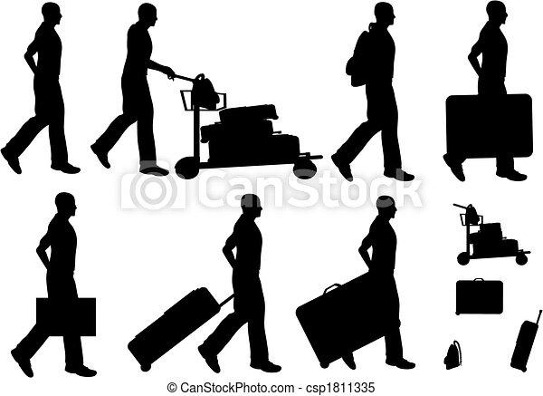 Male Travelers - csp1811335