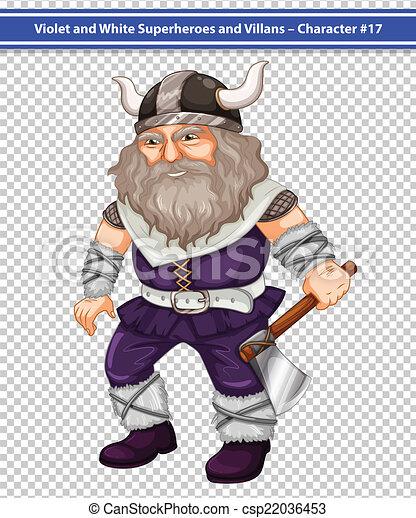 Male viking - csp22036453