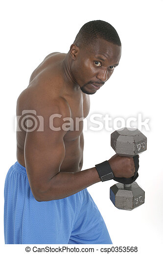 Male Weight Lifter 2 - csp0353568