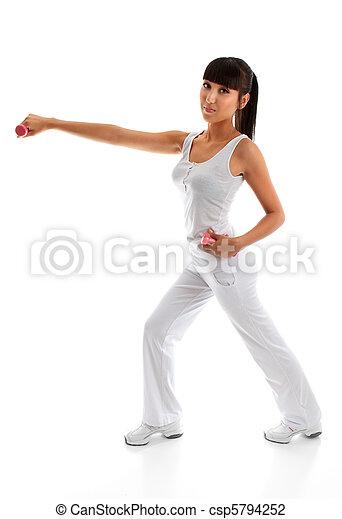 malhação, mulher, exercício, condicão física - csp5794252