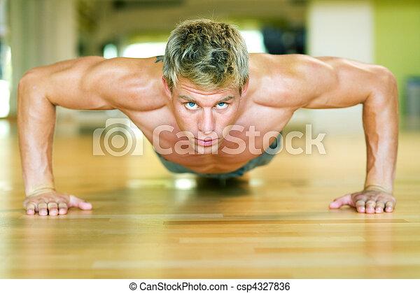 malhação, -, pushups - csp4327836