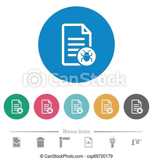 Malicious document flat round icons - csp69720179