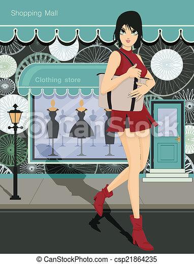 Centro comercial. - csp21864235