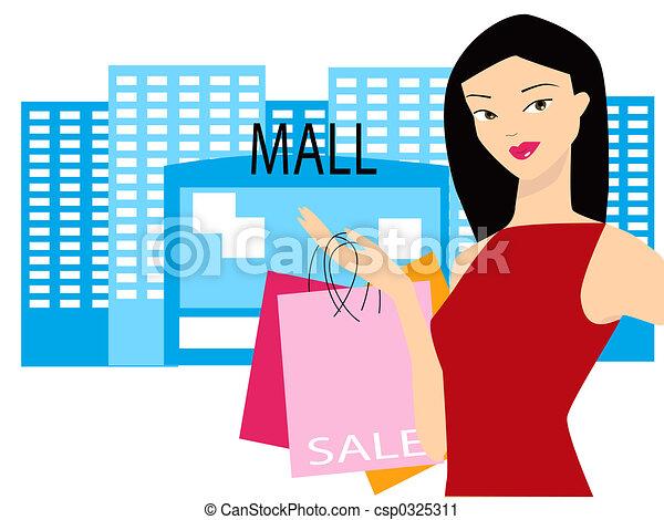 Mall Sale - csp0325311