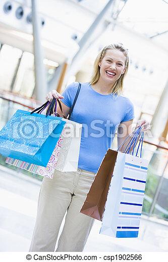mall, vrouw winkelen - csp1902566