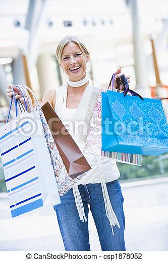 mall, vrouw winkelen - csp1878052