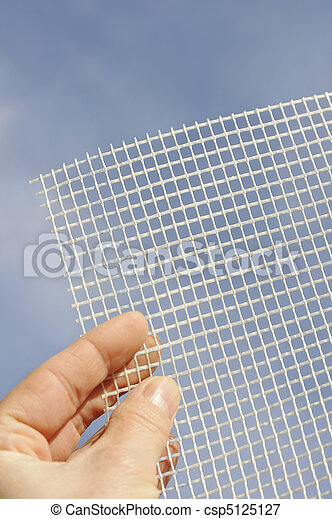 Detalle de mesh en mano - csp5125127