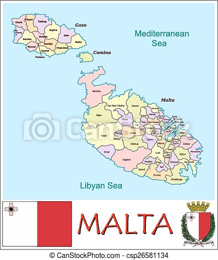 Malta administrative divisions Administrative divisions map