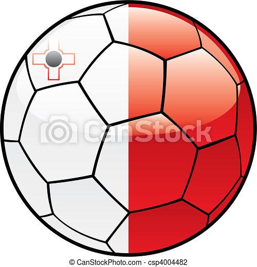 Malta flag on soccer ball - csp4004482