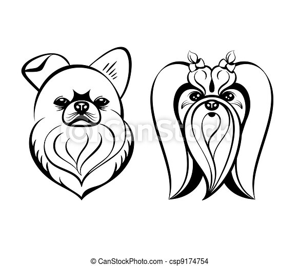 maltese dogs maltese dog heads contour drawing isolated eps vector rh canstockphoto com maltese clipart maltese clipart png