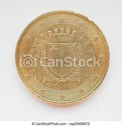 Maltese Euro coin - csp23485672