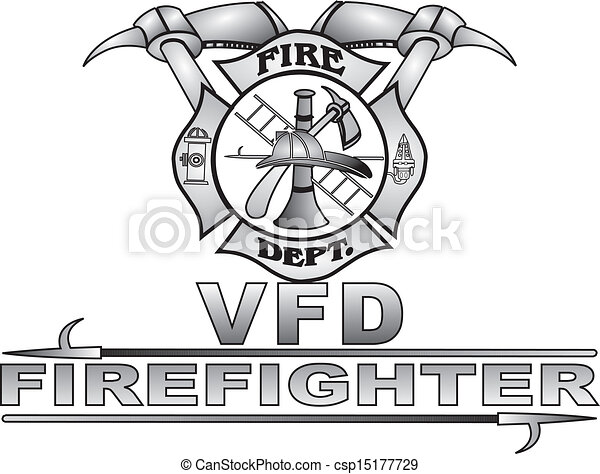 Maltese Fire Cross Vector - csp15177729
