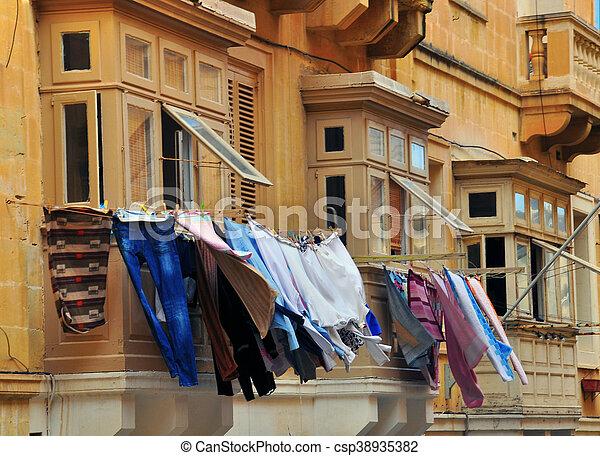 Maltese houses - csp38935382